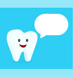 strong happy healthy white tooth talking vector image