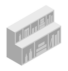 Surgery wall shelf icon isometric style vector