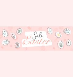trendy header design with different hand drawn vector image