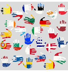 union countries flags vector image