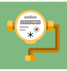 Water meter flat icon vector