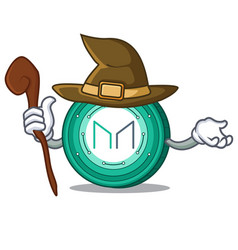Witch maker coin mascot cartoon vector