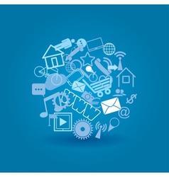 cloud media vector image vector image