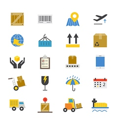 Logistics Flat Icons color vector image
