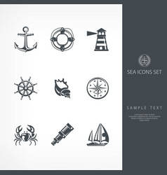 nautical sign vector image vector image