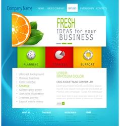 template business website vector image
