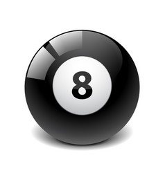 billiard ball isolated on white vector image vector image