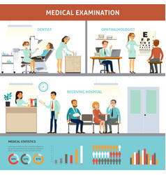 colorful medical examination infographic template vector image vector image