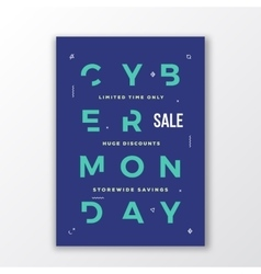 Cyber monday minimal typography poster or banner vector