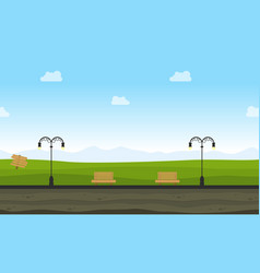landscape of garden background for game vector image vector image