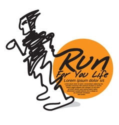 Run For Your Life The Abstract Runner vector image vector image