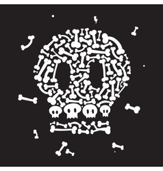 Skeleton and bones vector image