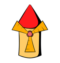 windmill icon cartoon vector image vector image