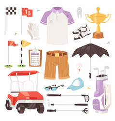 golf golfers sportswear and golfball for vector image