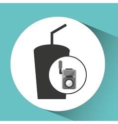 movie video camera soda icon vector image vector image