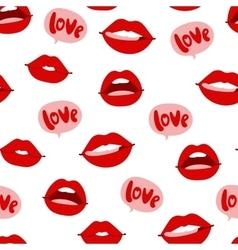 Woman lips seamless pattern vector image