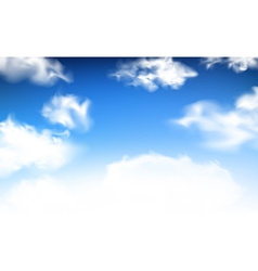 Blue sky with clouds vector image