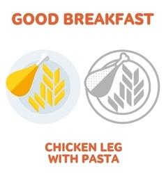 breakfast 1205 elements 02 vector image vector image