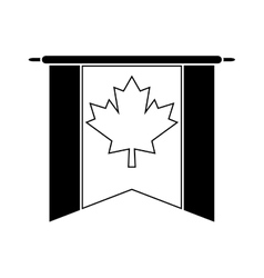 flag pennant canadian pictogram vector image