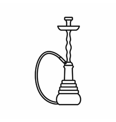 Hookah icon outline style vector image