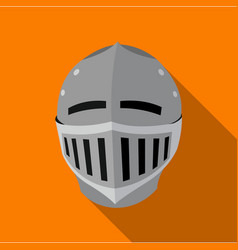 medieval helmet icon flate single weapon icon vector image vector image