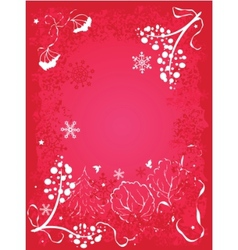 winter background with berries vector image vector image