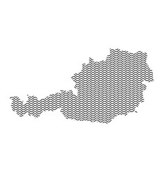 Abstract austria country silhouette of wavy black vector