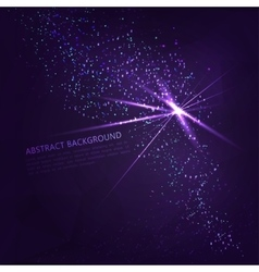 abstract background with glowing elements vector image