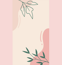Abstract organic floral template for social vector