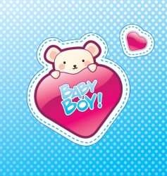 baboy postcard vector image