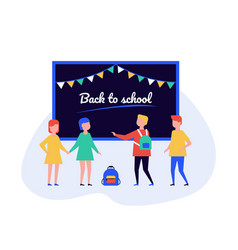 back to school - flat design style vector image