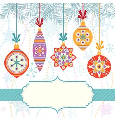 Background with bright balls vector image