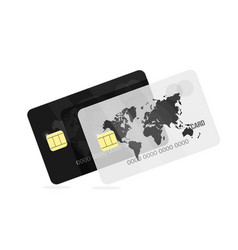 bank card black and white for the banking vector image