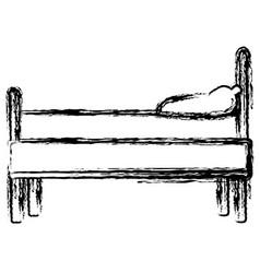 bed room interior vector image