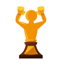 boxing award gold isolated icon vector image