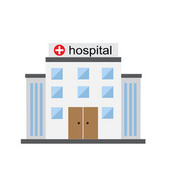 bright hospital building vector image