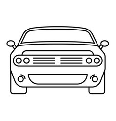 Car automobile line art icon for apps or website vector