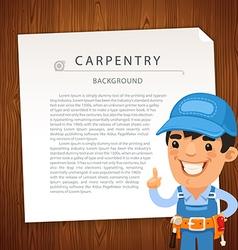 Carpentry bg man vector