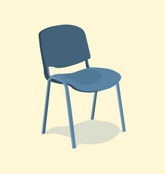 chair detailed single object realistic design vector image