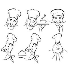 Chef cook set vector