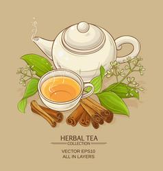 Cinnamon tea vector