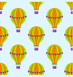 color glossy air balloons seamless pattern vector image