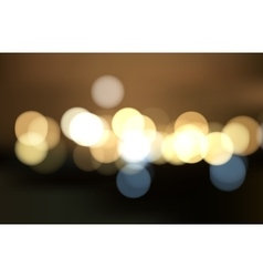 Colorful bokeh background Blurred light vector