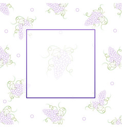 Colorful line grape banner on white background vector