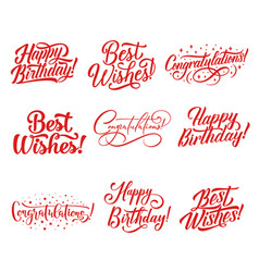 Congratulations lettering for greeting card design vector