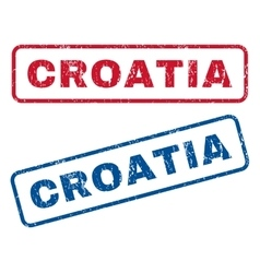 Croatia Rubber Stamps vector