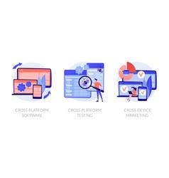 cross-platform software concept metaphors vector image