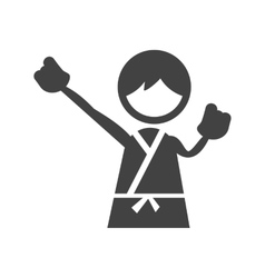 Doing Karate vector image