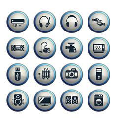 electronics supermarket icon set vector image