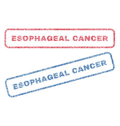 esophageal cancer textile stamps vector image vector image